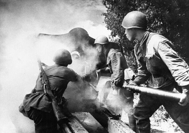 Soldados russos durante a Segunda Guerra Mundial