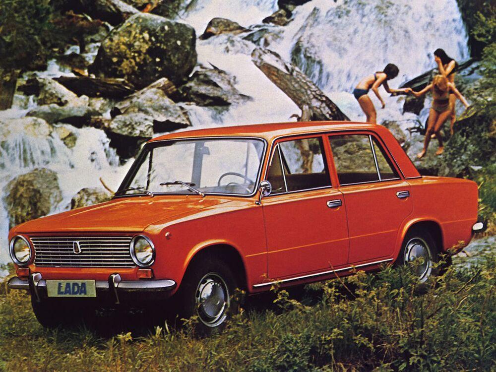 Publicidade do carro soviético Lada 1200