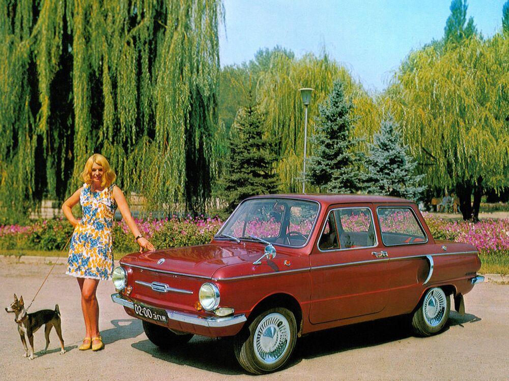 Publicidade do carro soviético ZAZ-968AE