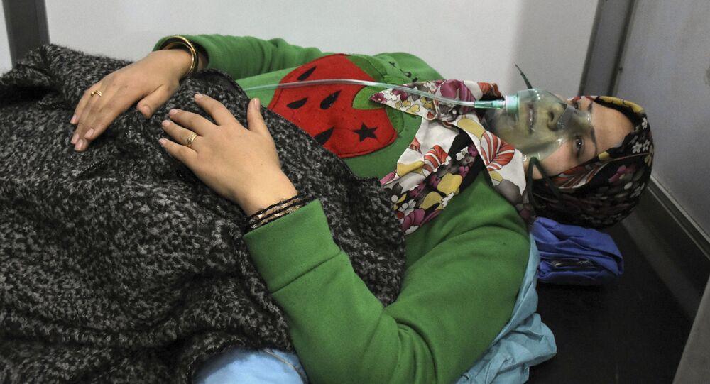 Vítima de um ataque químico em Aleppo, realizado em 24 de novembro de 2018