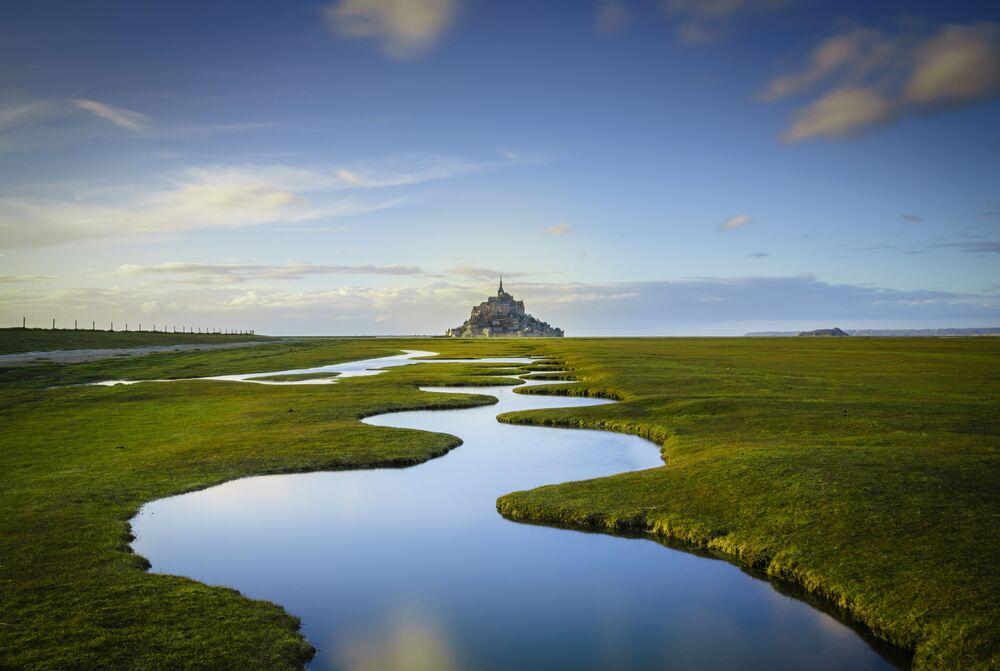 Ilha de Mont Saint-Michel, imagem do fotógrafo Daniel Burton