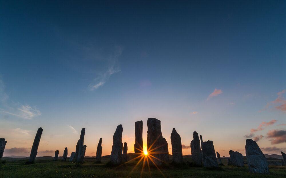 Pedras de Callanish, imagem do fotógrafo David Ross, ganhador da categoria História Antiga