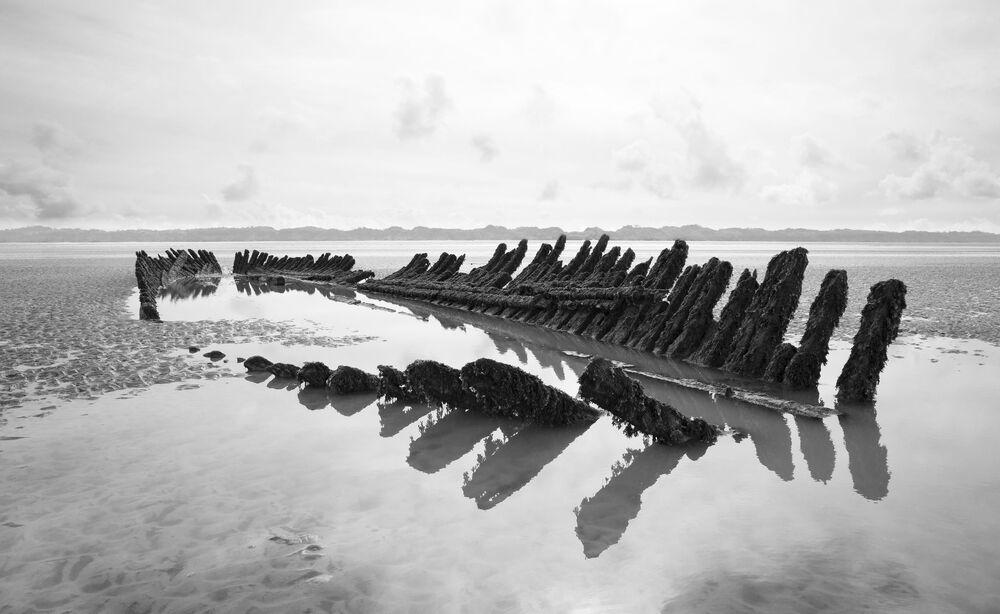 O que sobrou do navio norueguês SS Nornen, que naufragou em 1897 na costa de Barrow