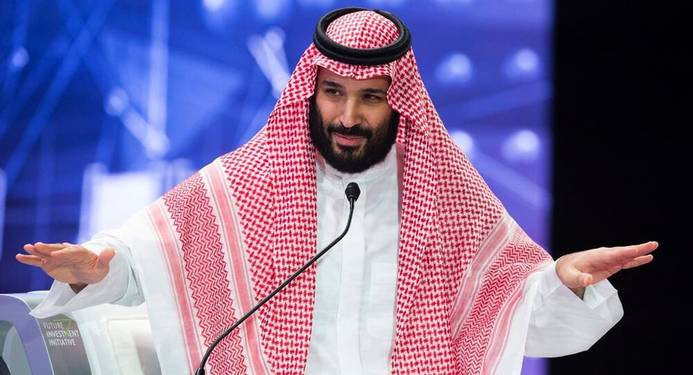 In this photo released by Saudi Press Agency, SPA, Saudi Crown Prince, Mohammed bin Salman addresses the Future Investment Initiative conference, in Riyadh, Saudi Arabia, Wednesday, Oct. 24, 2018