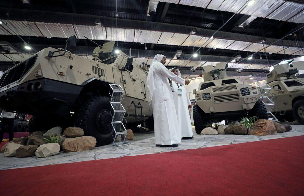 Veículo militar na Feria Internacional de Defesa EDEX 2018 no Egito