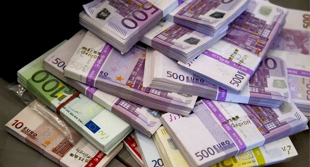 Notas de euro (imagem de arquivo)