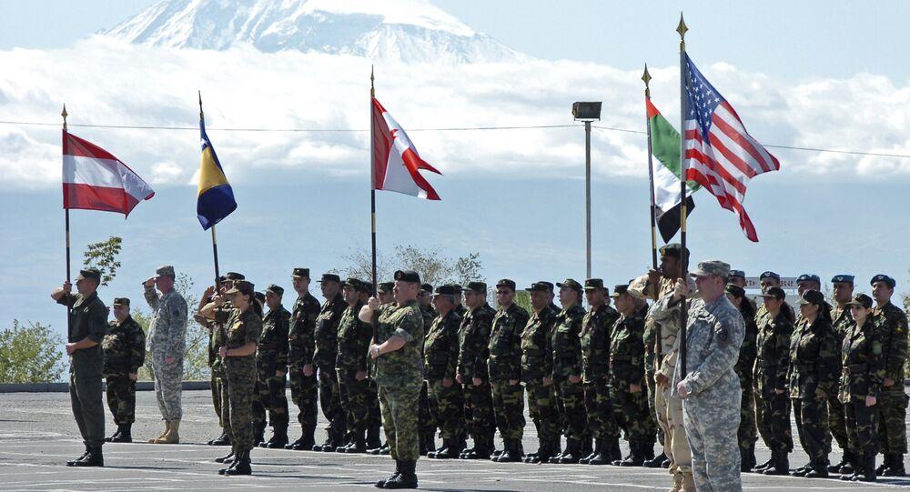 Cerimônia de abertura das manobras de guerra da Armênia em parceria com a OTAN em Yerevan (arquivo)