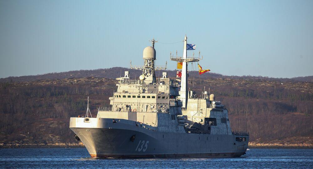 Navio de assalto Ivan Gren da Marinha da Rússia, 22 de outubro de 2018