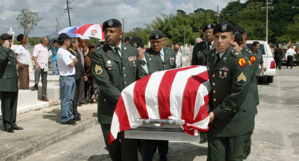 Funeral de um soldado morto em combate