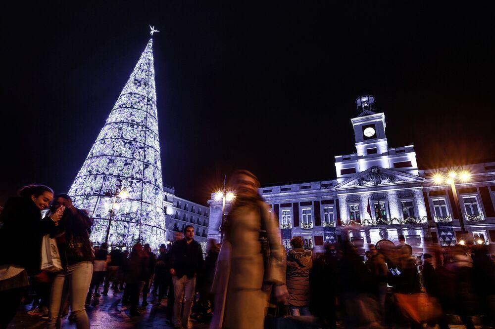 Árvore de Natal em Madri