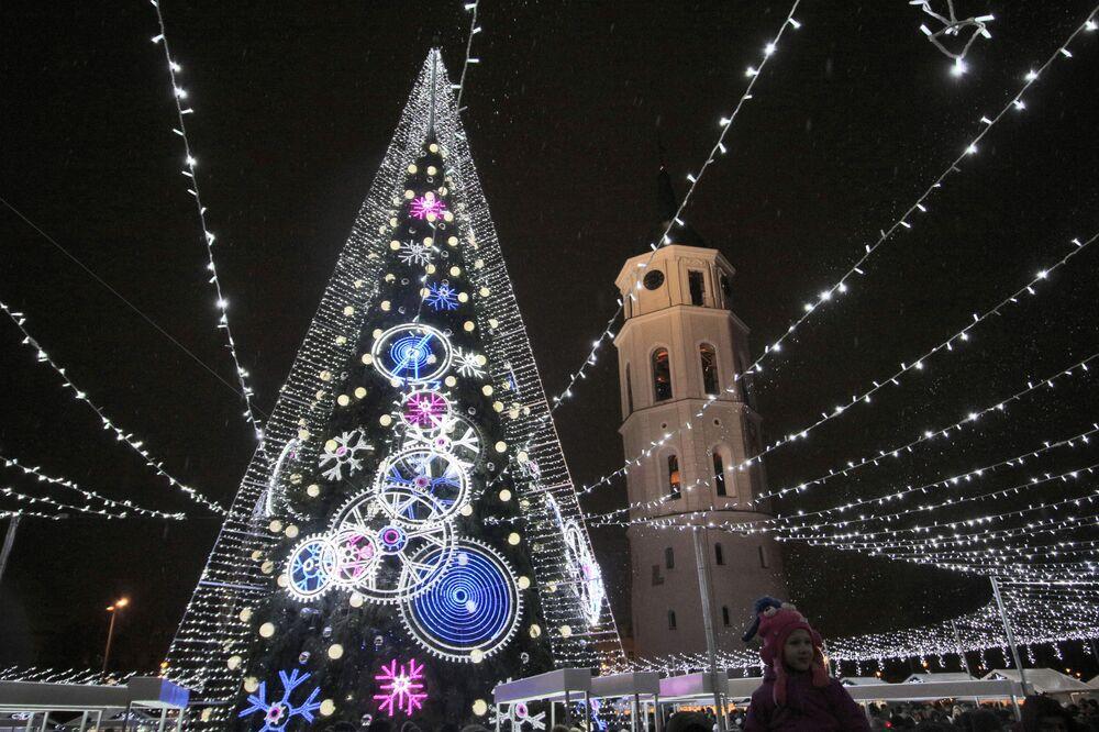 Árvore de Natal na Lituânia