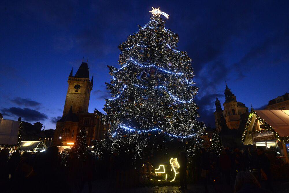 Árvore de Natal em Praga