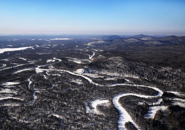 Paisagem da região de Khabarovsk