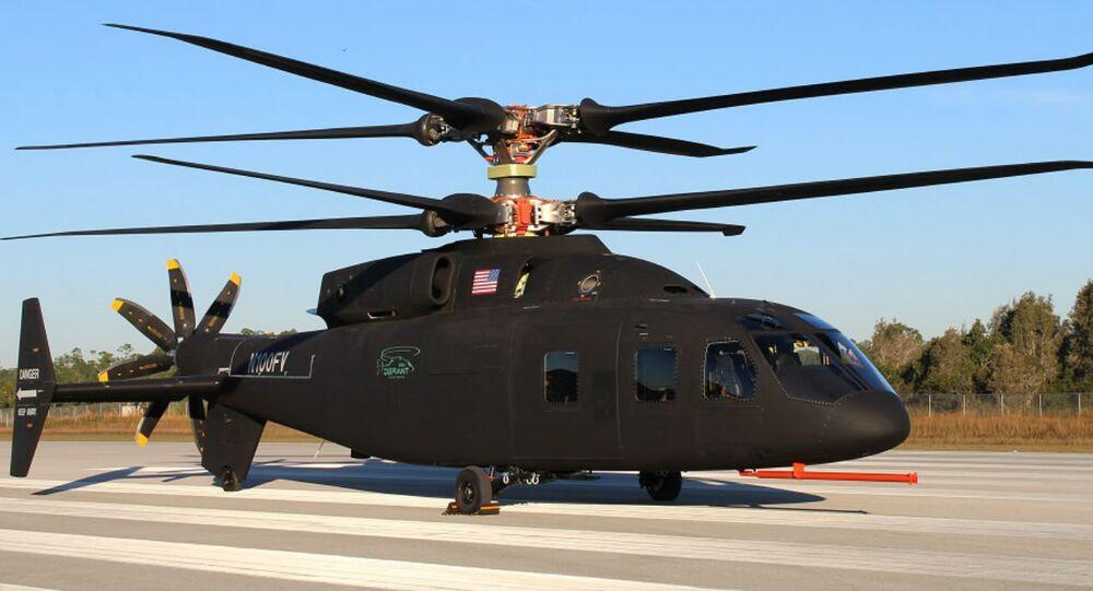 Fabricante de aeronaves norte-americana Sikorsky e Boeing apresentam novo helicóptero SB-1 DEFIANT