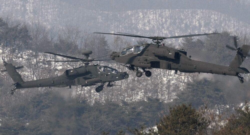 Helicópteros Apache utilizados pela Coreia do Sul