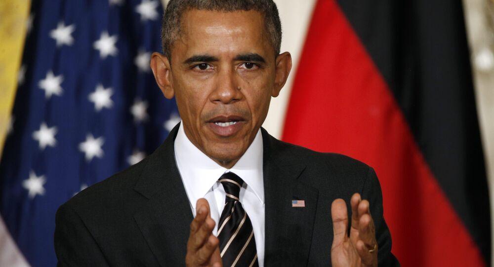Barack Obama, presidente dos Estados Unidos, fala em uma entrevista coletiva
