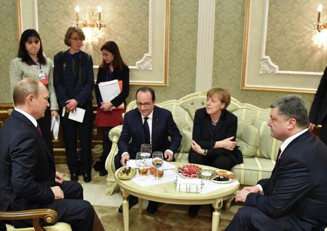 Encontro do quarteto de Normandia em Minsk