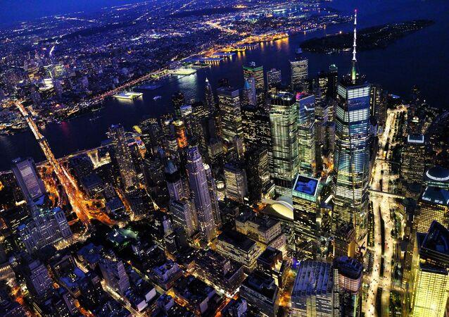 Vista de cidade de Nova York