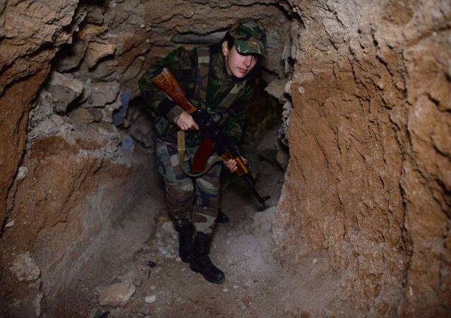 Soldado do Exército sírio