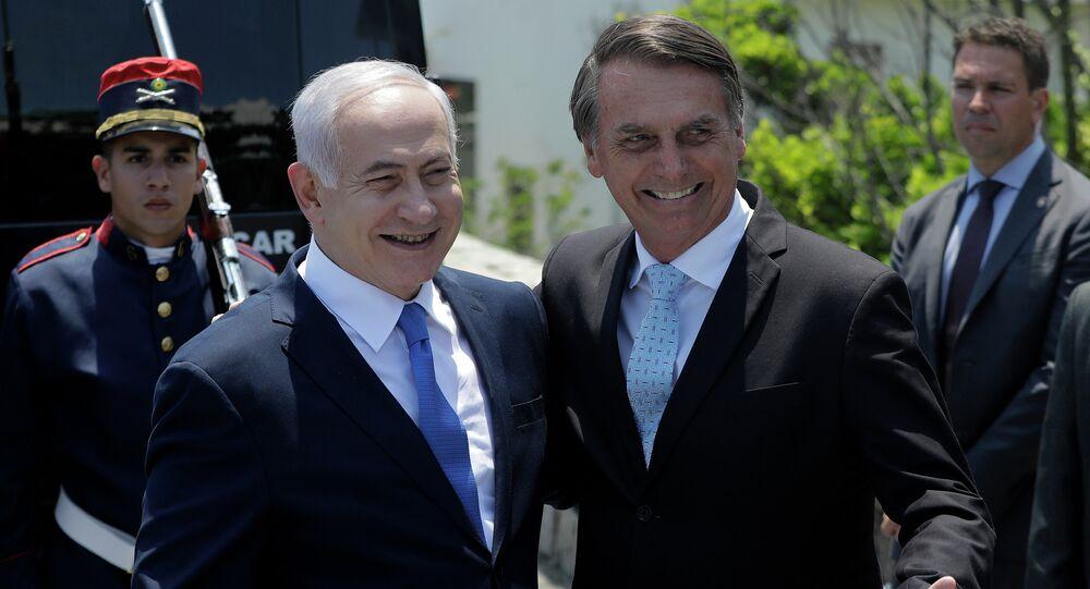 Primeiro-ministro de Israel, Benjamin Netanyahu, em encontro com o presidente eleito do Brasil, Jair Bolsonaro, no Rio de Janeiro