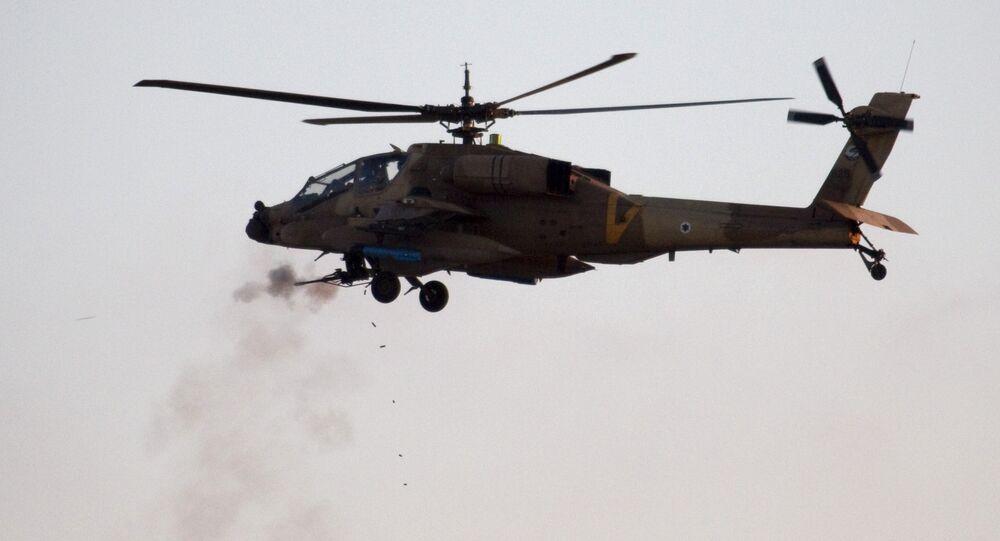 Helicóptero AH-64 Apache das Forças de Defesa de Israel