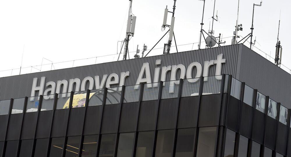 Aeroporto de Hannover, na Alemanha