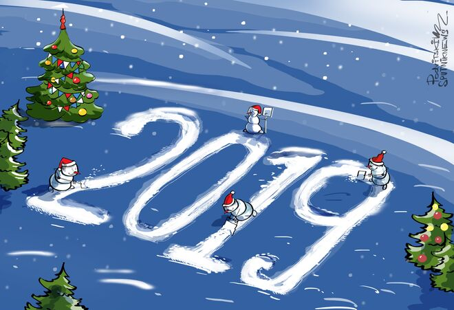 Sputnik deseja um ótimo Ano Novo!