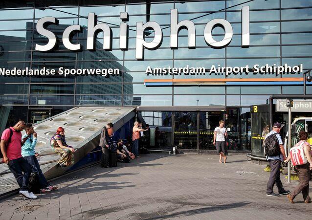 Entrada principal do aeroporto de Schiphol em Amsterdã