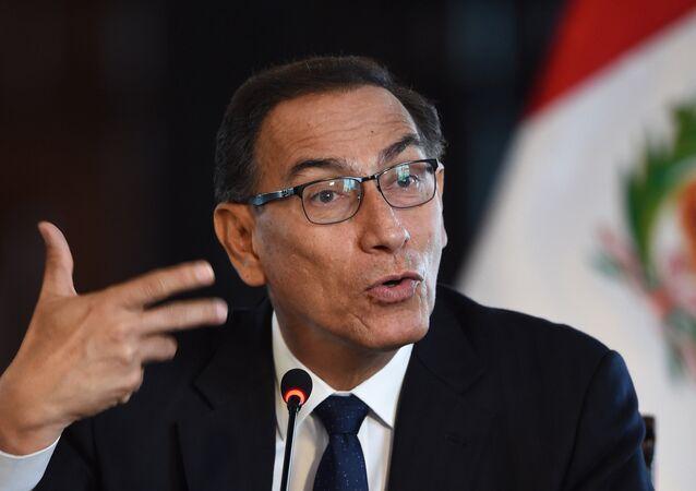 O presidente do Peru, Martin Vizcarra,