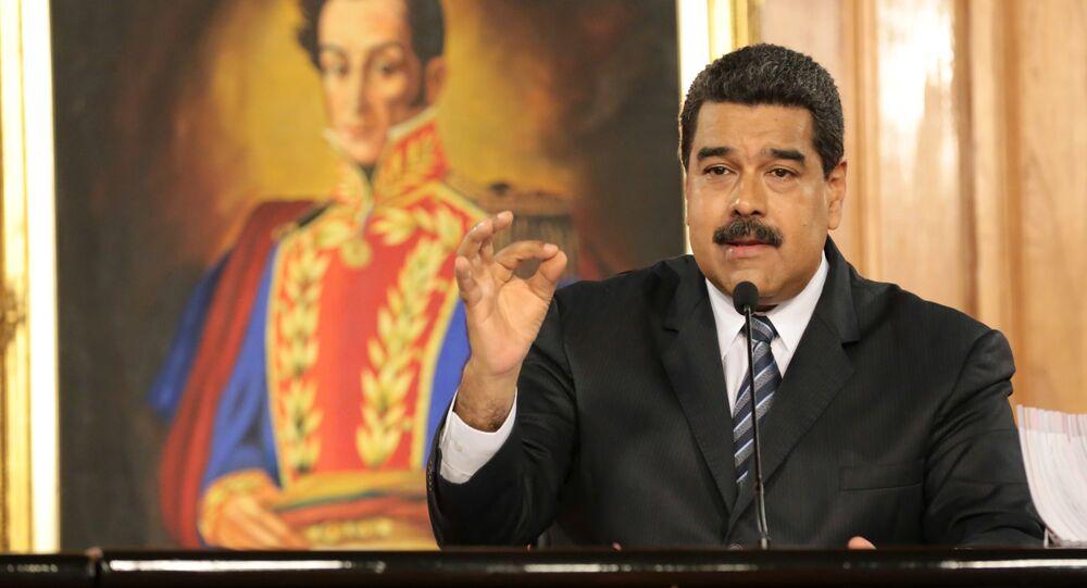 Nicolás Maduro, presidente da Venezuela, durante discurso em Caracas (arquivo)