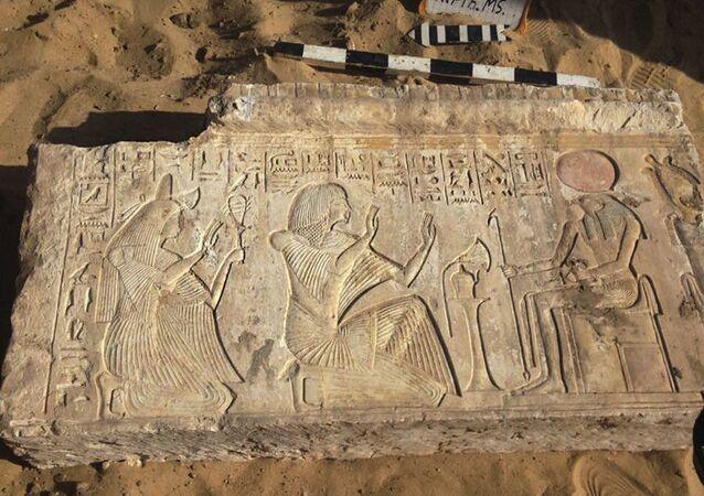 Artefatos encontrados no túmulo do general Ivria em Saqqara, perto do Cairo, Egito (imagem referencial)