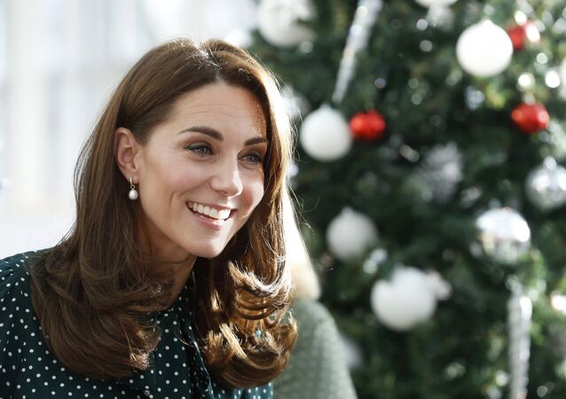 A duquesa de Cambridge, Kate Middleton durante uma visita ao Príncipe William ao Hospital Infantil Evelina em Londres (arquivo)