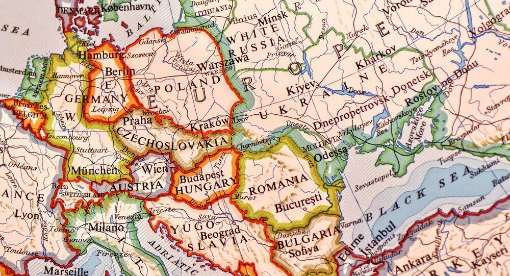 Mapa da Europa (imagem referencial)