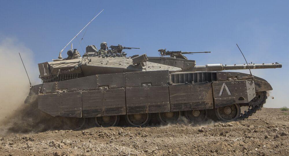 Um tanque de Merkava de Israel (foto de arquivo)