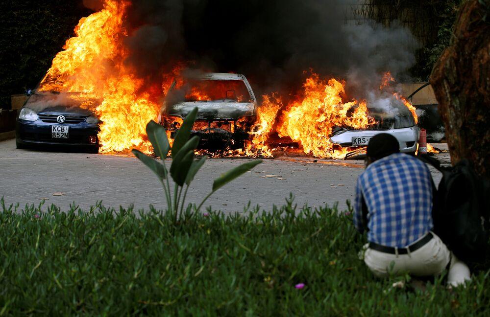 Local da explosão e tiroteio perto de hotel em Nairóbi, Quênia