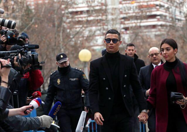 Chegada de Cristiano Ronaldo ao Tribunal de Madri