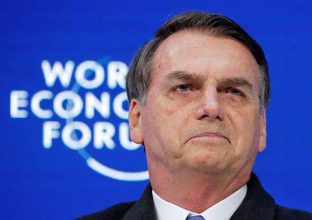 Jair Bolsonaro no Fórum Econômico Mundial em Davos.