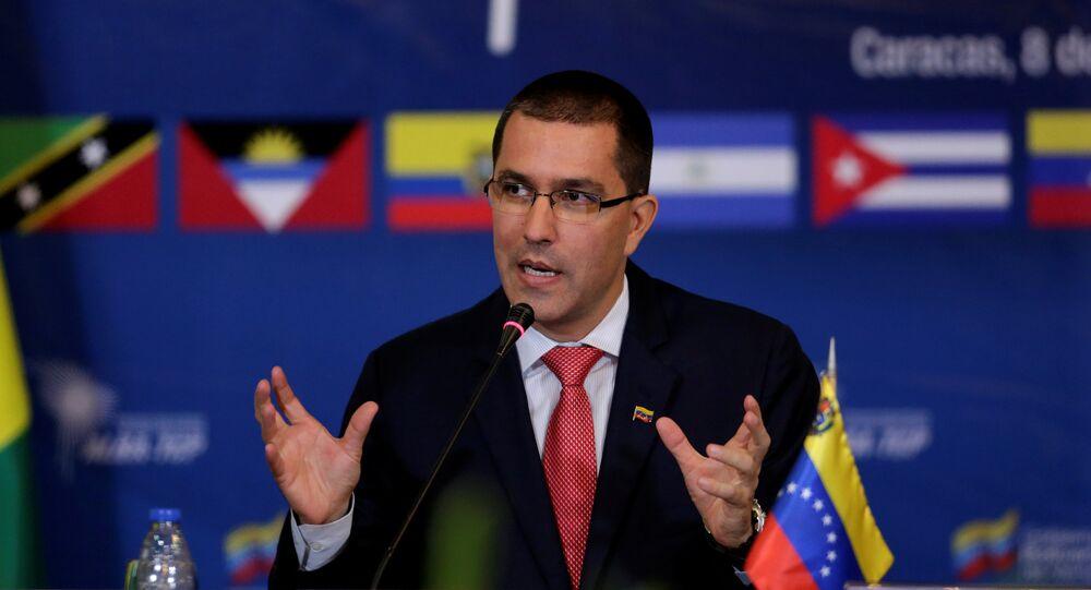 Jorge Arreaza, chanceler venezuelano