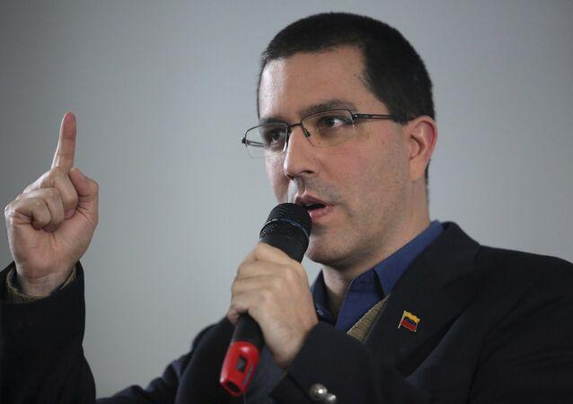 Ministro das Relações Exteriores da Venezuela, Jorge Arreaza, 10 de abril de 2018 (foto de arquivo)