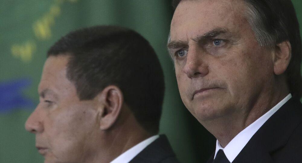 Hamilton Mourão e Jair Bolsonaro, vice-presidente e presidente do Brasil