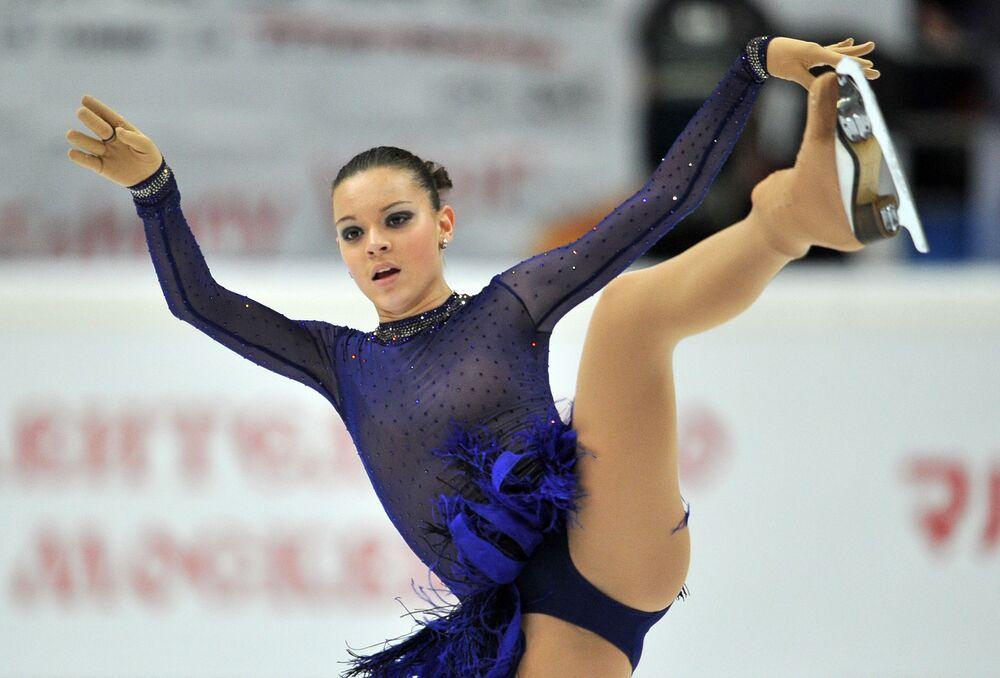 Patinadora russa Adelina Sotnikova durante apresentação de patinação livre na 4ª etapa da Final do Grand Prix de Patinação Artística no Gelo