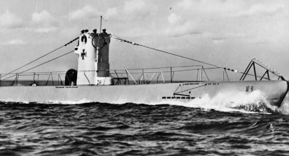 Submarino U-9 da Alemanha (foto de arquivo)