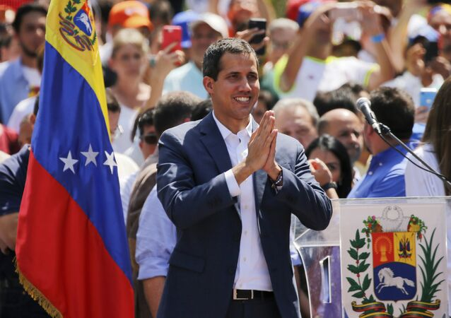 Juan Guaidó, líder da oposição venezuelana