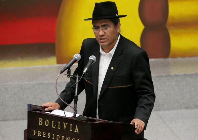 Diego Pary, ministro das Relações Exteriores da Bolívia