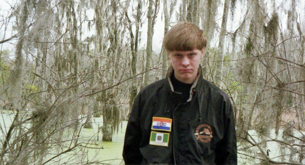 Dylann Roof, acusado de matar 9 negros em uma igreja de Charleston, Carolina do Sul, em junho de 2015