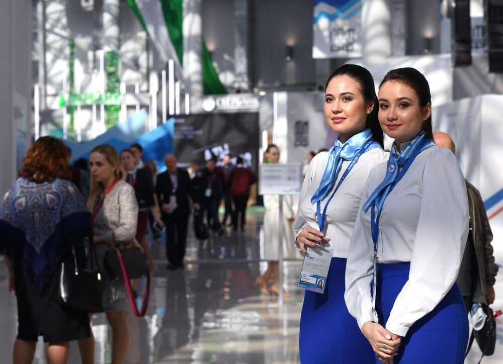 Participantes do Fórum Russo de Investimento de Sochi, na Rússia