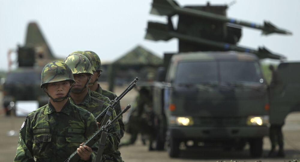 Soldados da Força Aérea taiwanesa