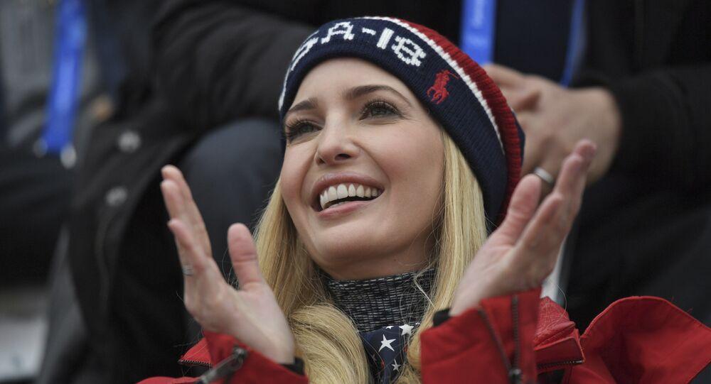 Ivanka Trump, filha do presidente dos EUA, Donald Trump, assiste a competição masculina de snowboard Big Air nos Jogos Olímpicos de Inverno de 2018 em Pyeongchang, Coreia do Sul (arquivo)