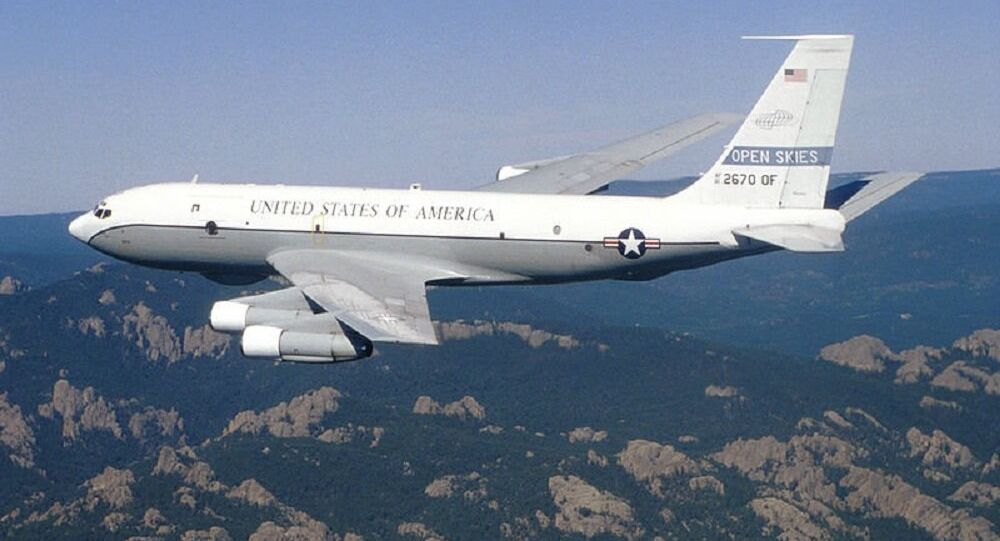 Boeing OC-135B da Força Aérea dos EUA (foto de arquivo)