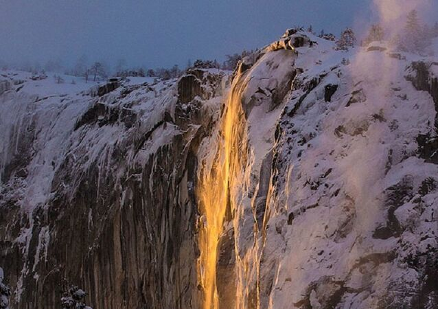 A cachoeira de fogo